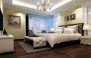 2016年120平米简欧简约风格卧室装修效果图
