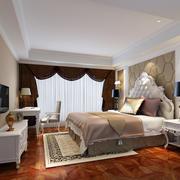 欧式风格精致轻快大户型卧室装修效果图