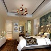 现代风格大户型时尚混搭卧室背景墙装修效果图