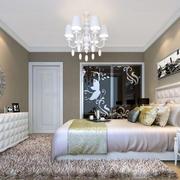 100平米欧式风格典雅时尚女生卧室装修效果图