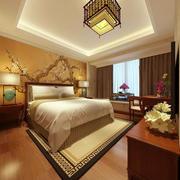 现代中式风格卧室吊顶