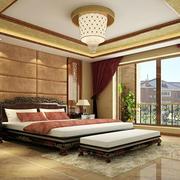 现代中式卧室吊顶设计