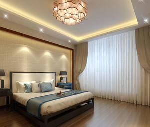 现代中式风格卧室吊灯装修