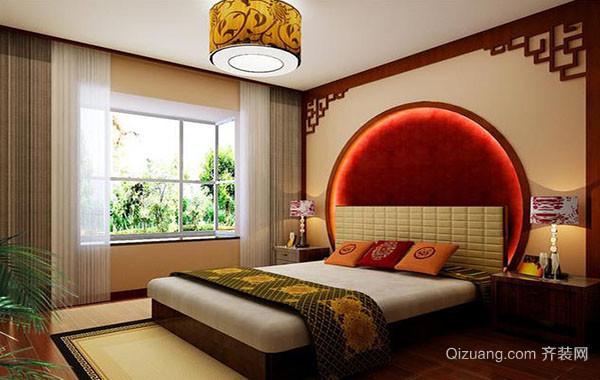110平米现代中式风格宜家卧室装修效果图赏析