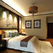 现代中式风格卧室吊顶装修