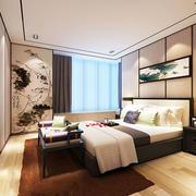 中式风格创意卧室背景墙