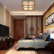 现代中式风格卧室装修