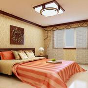 现代中式风格卧室吊顶设计