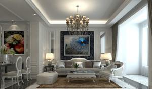 大户型欧式风格精致典雅客厅背景墙装修效果图