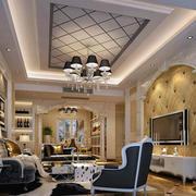 客厅精致墙体设计
