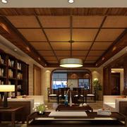 东南亚风格自然大户型客厅装修效果图
