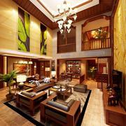 别墅型东南亚风格自然客厅装修效果图鉴赏
