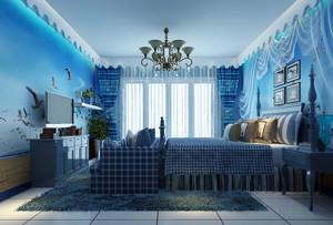 大户型自然简约地中海风格卧室装修效果图