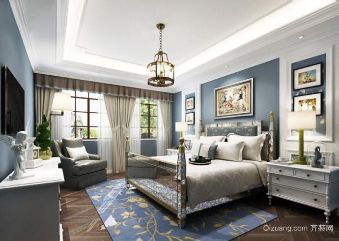 2016年新款地中海风格自然清新卧室装修效果图