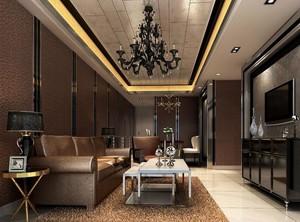 欧式别墅型客厅吊顶装修效果图实例