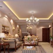 大户型欧式客厅室内设计装修效果图实例