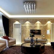 2016三居室欧式客厅背景墙装修效果图实例