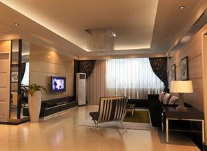 90平米现代简约时尚客厅装修效果图