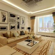 简约客厅照片墙设计