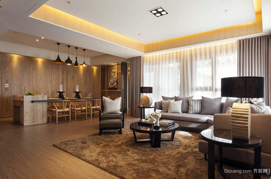 后现代风格大户型简约客厅餐厅装修效果图