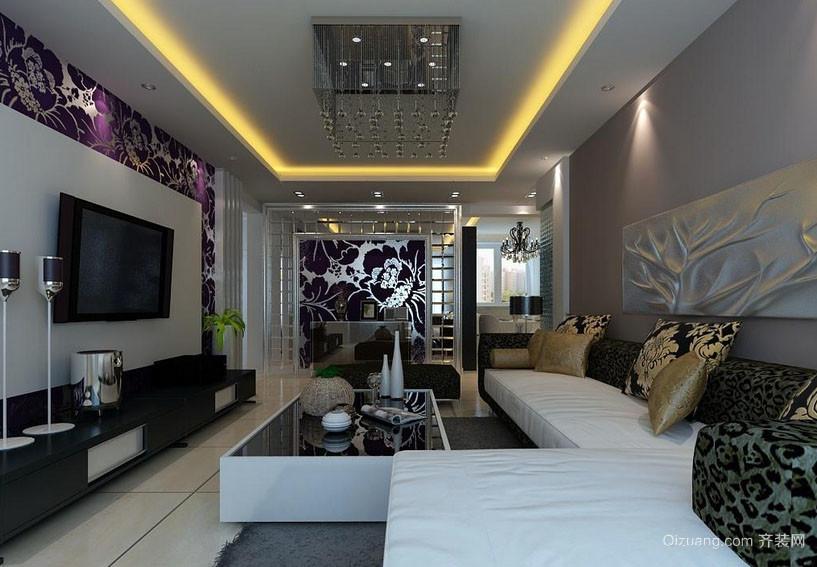 80平米后现代风格客厅装修效果图赏析