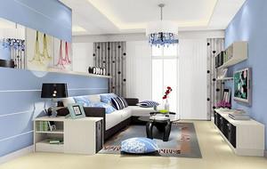 小户型现代简约风格自然精致客厅装修效果图鉴赏