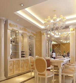 大户型欧式风格室内酒柜设计装修效果图欣赏