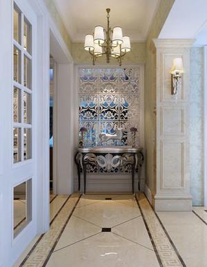 欧式风格别墅型精致典雅进门玄关装修效果图赏析
