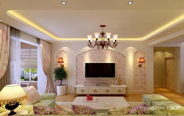 欧式小户型客厅吊顶设计装修效果图欣赏