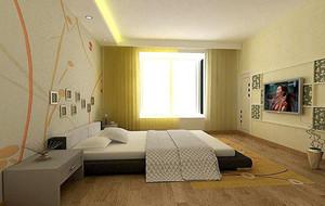 2016欧式小户型卧室背景墙装修效果图实例