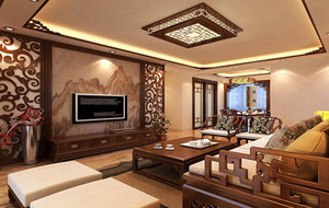 2016精致的现代中式小客厅装修效果图鉴赏