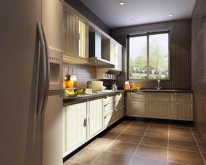 2016别墅简欧风格开放式厨房装修效果图实例