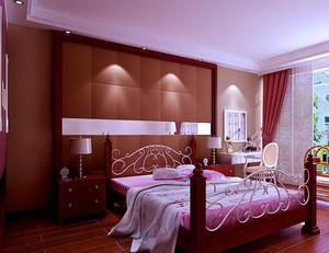 2016精致简约中式小卧室装修效果图欣赏