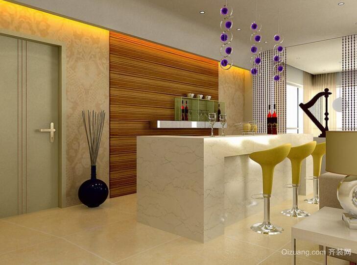 欧式小户型客厅吧台装修效果图实例