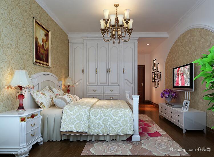 2016精致的欧式大户型卧室墙纸装修效果图欣赏