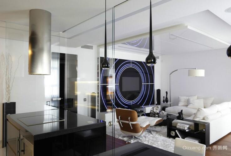 2016欧式小户型公寓客厅装修效果图欣赏
