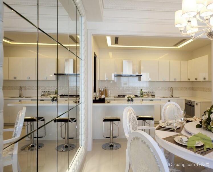 2016时尚大户型厨房餐厅设计装修效果图
