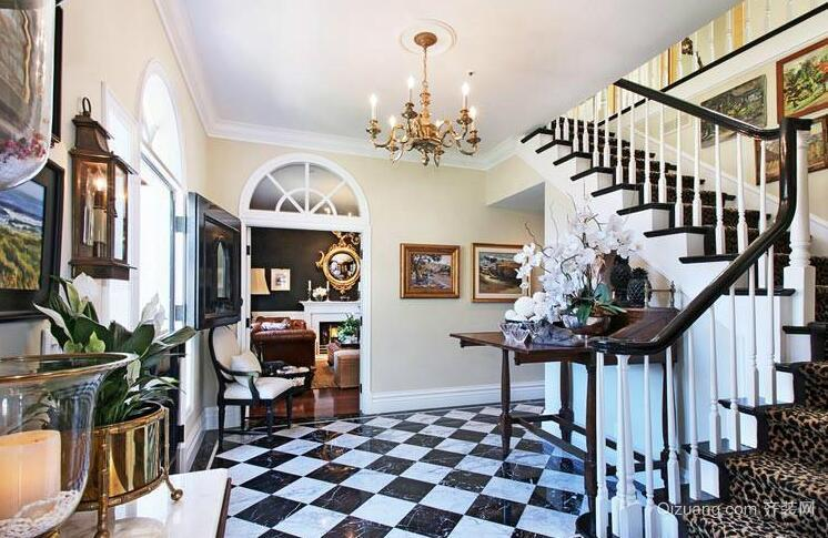 2016精美欧式别墅楼梯设计装修效果图