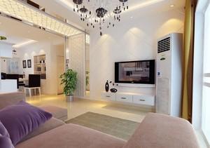 大户型现代简约客厅电视背景墙装修效果图