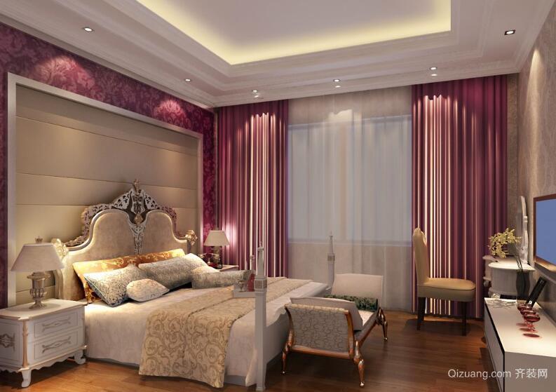 小户型欧式风格卧室窗帘装修效果图实例