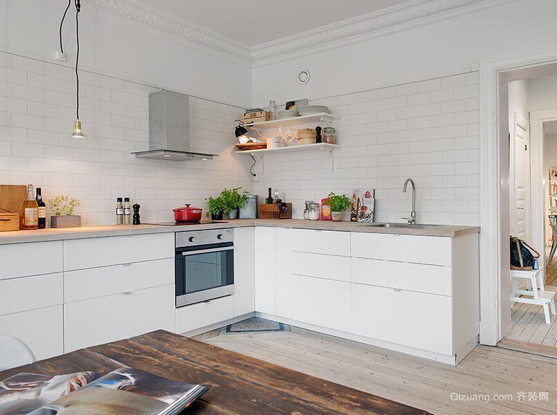 90平米欧式厨房置物架设计装修效果图