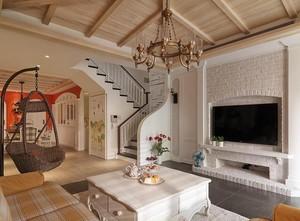 别墅型简欧风格电视背景墙效果图欣赏