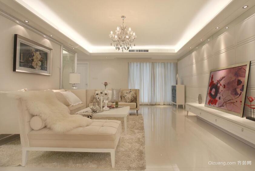 三居室现代风格客厅装修效果图实例