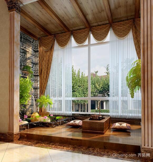 别墅型欧式风格阳台装修效果图欣赏