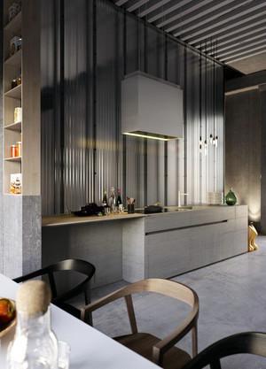 90平米错层简约时尚创意单身公寓装修效果图赏析