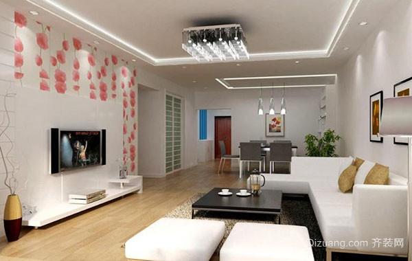 两室两厅现代简约风格客厅装修效果图实例