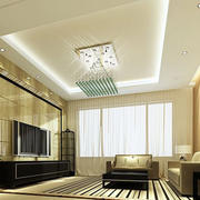 简约风格客厅精美水晶吊灯设计
