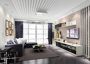 100平米现代简约时尚创意客厅装修效果图鉴赏