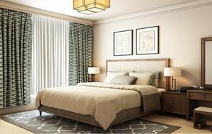 100平米大户型新中式卧室背景墙装修效果图