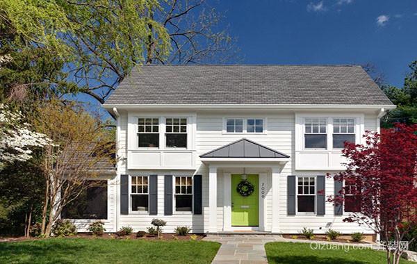 美式风格两层别墅整体设计装修效果图赏析